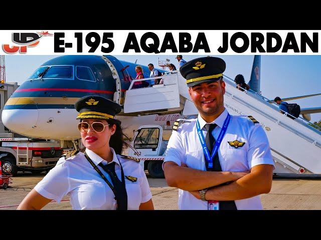 Piloting Embraer 195 out of Aqaba Jordan   Cockpit Views