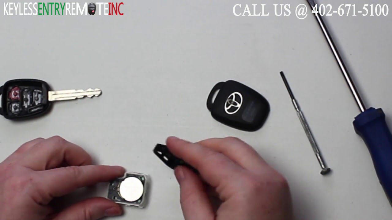 How To A Replace Toyota Camry Key Fob Battery 2012 2016 Youtube