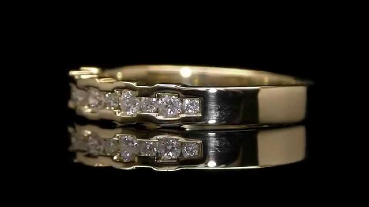 Ctw channel set round diamond anniversary wedding band ring in