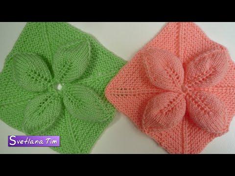 Схемы цветов вязания спицами