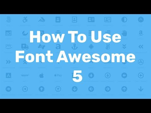 How To Download And Use Font Awesome 5 Icons Tutorial |  HTML,CSS Web Design Offline & CDN