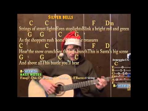 Silver Bells (Christmas) Fingerstyle Guitar Cover Lesson with Lyrics Chords - Play and Sing