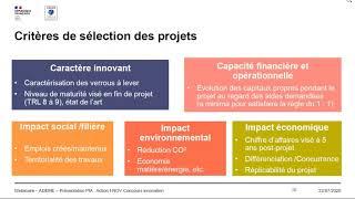 Vague 6 du Concours d'innovation i-Nov des PME & start-up présentée par l'ADEME