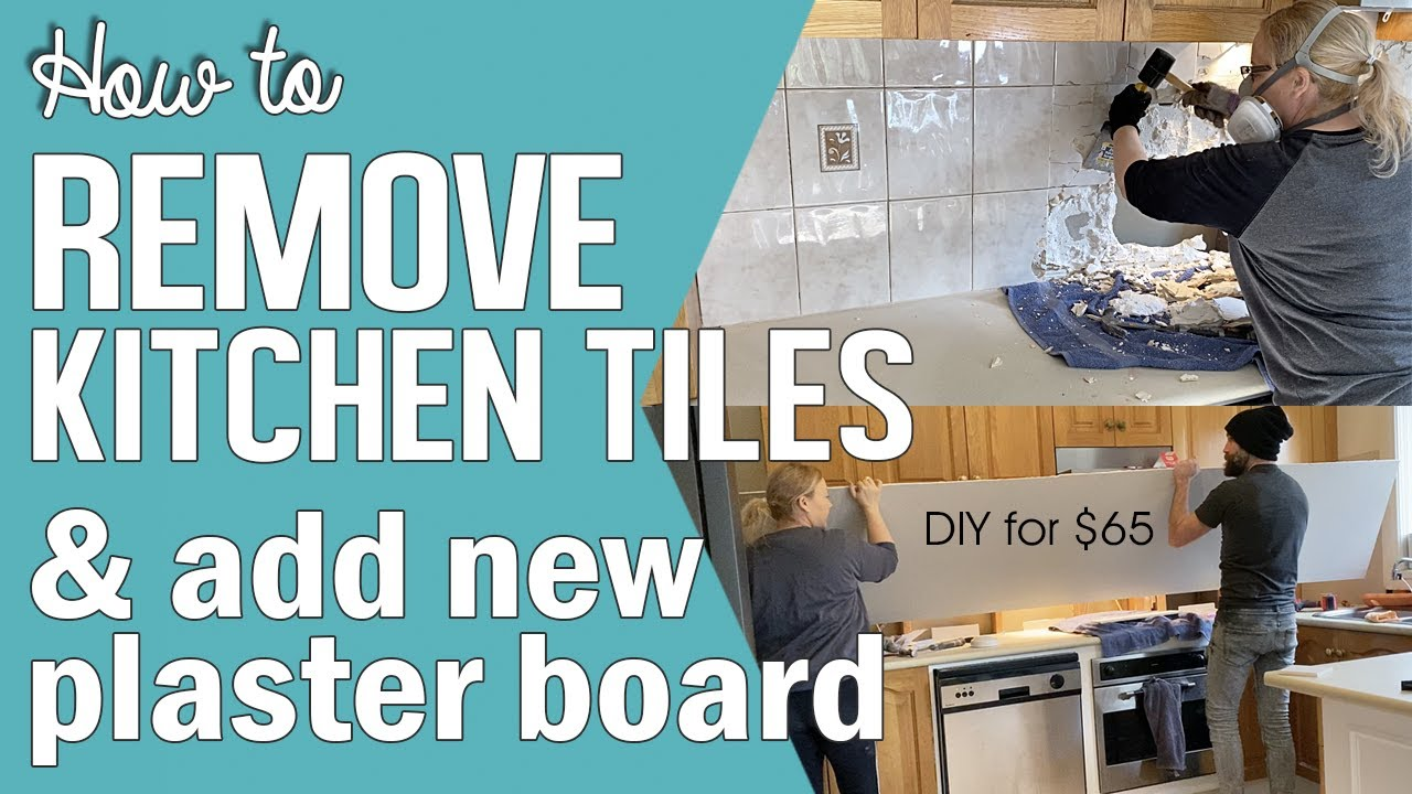 how to remove kitchen backsplash tiles replace plaster board drywall prefill tape a butt joint