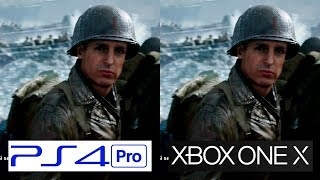Call of Duty WWII | Xbox One X vs PS4 Pro | 4K Graphics Comparison | Comparativa
