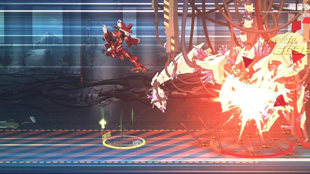 重裝戰姬(CH)/Final Gear EVA聯動角色 SSR射擊 明日香 語音/技能&實戰 一體機展示-二號機