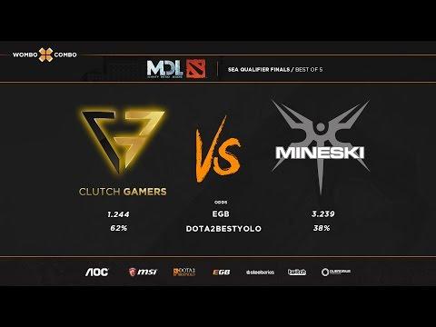 Clutch Gamers vs Mineski MDL SEA Qualifiers Grandfinals Game 1
