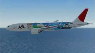 FS2004-JAPAN AIRLINES BOEING 777-TOKYO NARITA TO NEWYORK JFK PART 2