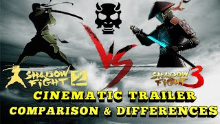 Shadow Fight 3 vs Shadow Fight 2》cinematic trailer comparisons & differences