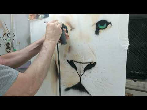 Part 2 How to airbrush a Lion on a t-shirt...