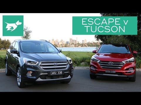 2017 Ford Escape vs 2017 Hyundai Tucson Comparison Review