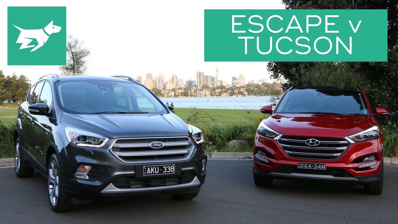 Ford Escape Vs  Hyundai Tucson Comparison Review