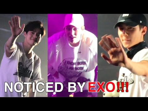 NOTICED BY EXO! EXO'r'DIUM in Newark 2017(BACKSTAGE,EYE CONTACTS,Tour Bus) +full