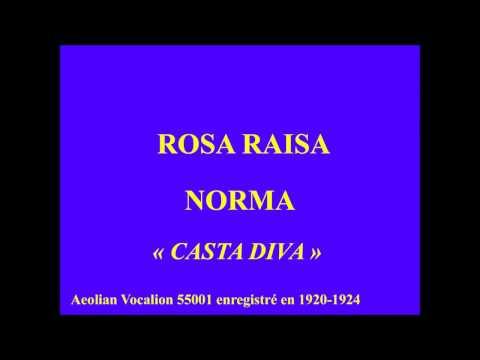 Rosa Raisa  Norma   Casta Diva   Aeolian Vocalion 55001 Enregistré En 1920 1924