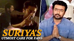 STOP THAT BIKE I SAY ! Suriya's utmost care for fans | Rash Driving | TSK