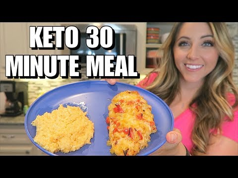 30 Minute Keto Meal: Hassleback Fajita Chicken & Cheesy Cauliflower Rice