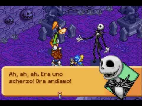 niveau halloween jack skellington jeu kingdom hearts chain of memories gba