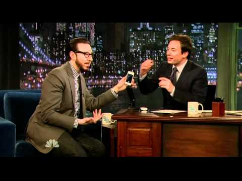 Late Night With Jimmy Fallon - Joshua Topolsky Shows off iPhone ...
