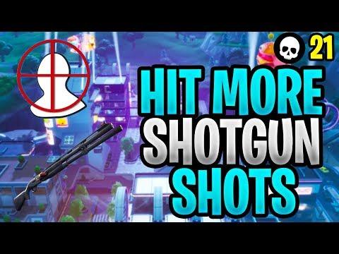 How To Hit More Shotgun Shots In Fortnite! (Fortnite Shotgun Aim Tips  - Season 9)