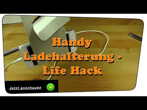 download video handy ladehalterung ladestation selber bauen life hack diy. Black Bedroom Furniture Sets. Home Design Ideas