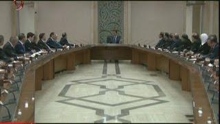 الرئيس الأسد يجتمع بوزراء الحكومة الجديدة بعد أدائهم اليمين الدستورية