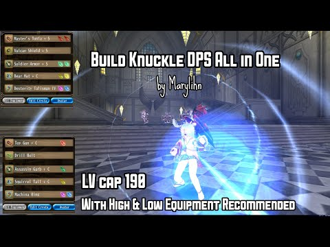 Build Knuckle DPS All In One Lv Cap 190 (With High & Low Budget Equipment) By Marylihn #TORAMONLINE