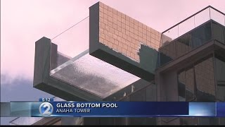 Glass-bottom pool designed to take swimmers to new heights