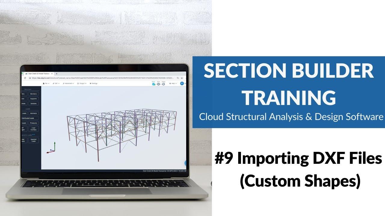 Importing Dxf | SkyCiv Documentation