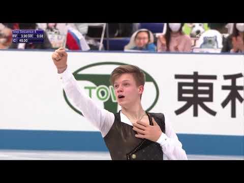 Евгений Семененко поразил мир четверными прыжками в короткой программе на ЧМ по фигурному катанию