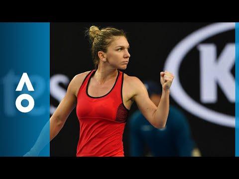Simona Halep v Eugenie Bouchard match highlights (2R)   Australian Open 2018