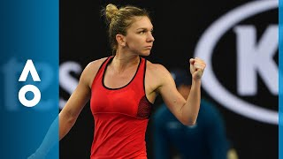 Simona Halep v Eugenie Bouchard match highlights (2R) | Australian Open 2018