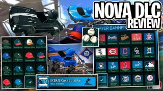 REVIEW DA NOVA DLC MLB! VALE A PENA? BOOST, BANNERS, CHAPÉUS E MAIS DE TIMES! - Rocket League