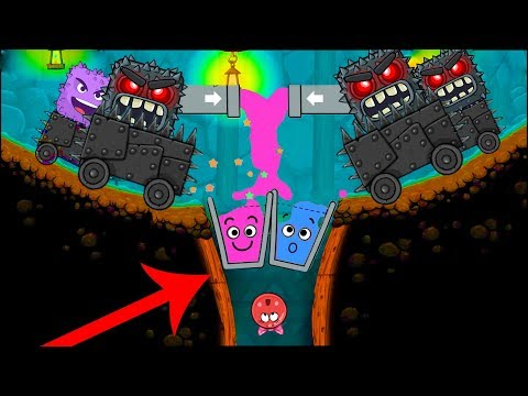 Happy Glass Ball in Red Ball 4 with Cave Boss Fights All Levels ( 61 - 75 ) Full Walkthrough