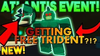 GETTING FREE TRIDENT WITHOUT KILLING?!? ATLANTIS UPDATE! - (ROBLOX Power Simulator)