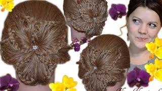 ЦВЕТОК из КОС! ПРИЧЕСКА к 8 МАРТА!/Детская прическа/ Flower braided HAIRSTYLE / Nina Nonsimple(В этом видео я рассказываю и показываю, как сделать очень необычную очаровательную прическу из кос в форме..., 2013-03-04T20:02:35.000Z)