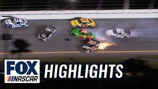 Denny Hamlin Wrecks Danica Patrick - Budweiser Duel 2 - 2015 NASCAR Sprint Cup