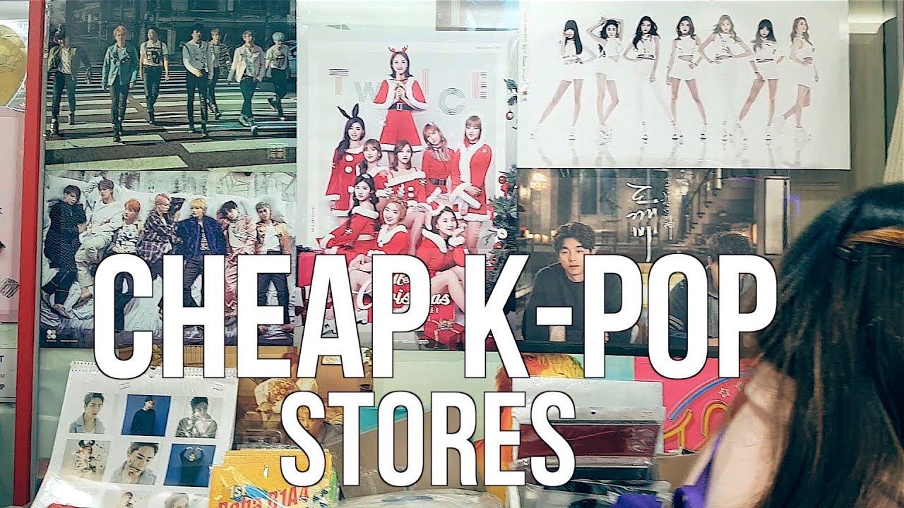 0ca6688f43a Three Cheap K-Pop Stores In Seoul - YouTube