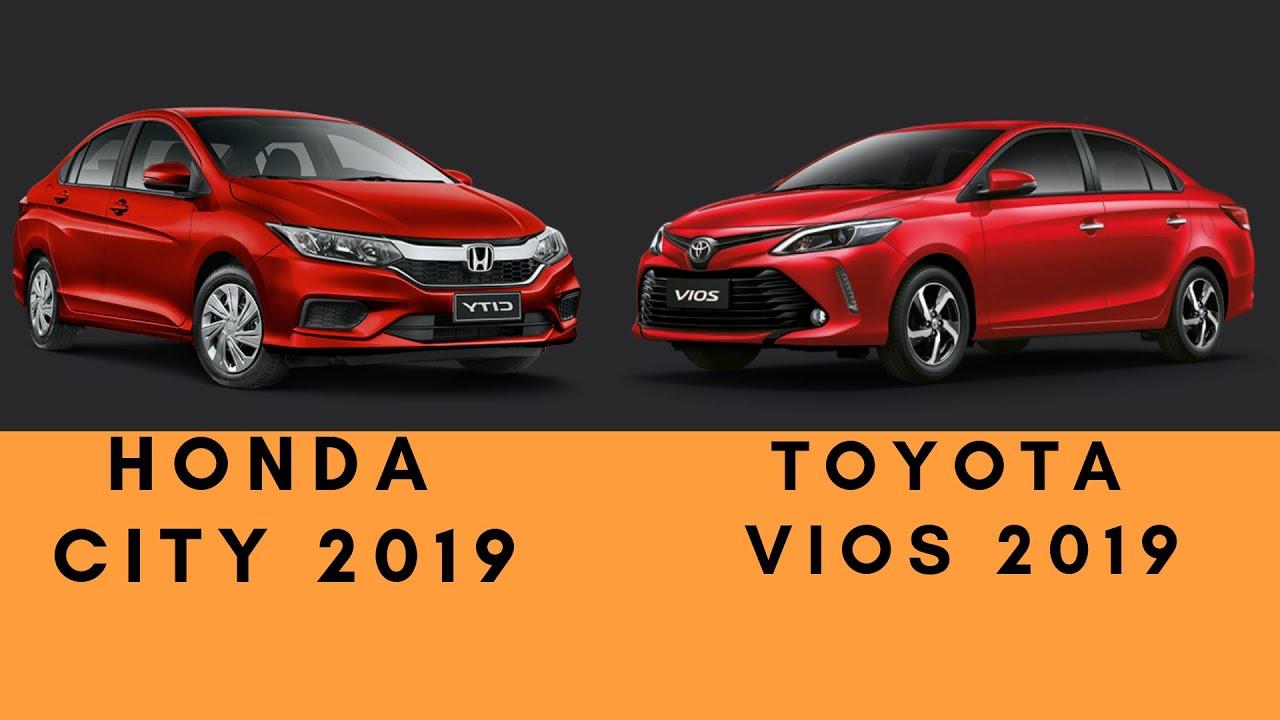 Honda City 1 5 VX+ Navi 2019 vs Toyota Vios 1 5 G Prime CVT 2019 | SPECS |  COMPARISON 2019