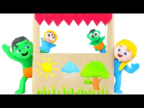 Kids Making A Puppet Show ❤ Cartoons For Kids