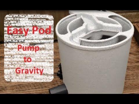 Eazy pod koi pond filter setup to gravity fed easy pod for Koi filter setup