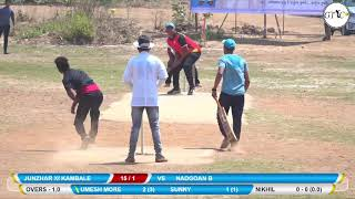 NADGOAN B VS ZHUNJAR XI MATCH AT KAMGAR UTKARSH SABHA CRICKET MOHOTSAV 2019