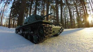 Танк на Радиоуправлении КВ-1 Тест по Снегу/Rc Tank Kv-1 Snow Test(Зимний тест Танк на Радиоуправлении КВ 1 Хенг Лонг 1/16 2.4 Ггц по Снегу и Холоду Winter test tank on the radio control Heng Long KV-1..., 2016-12-09T09:00:01.000Z)