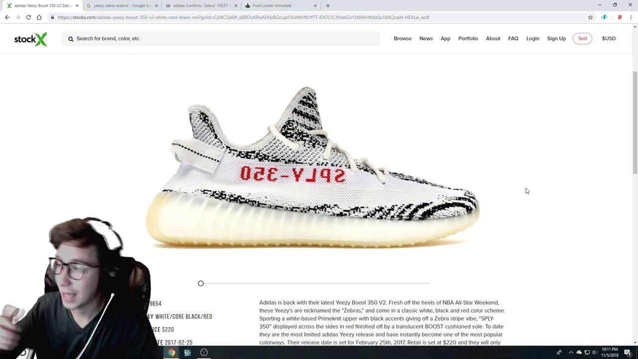 YEEZY 350 ZEBRA RESTOCK?! How many pairs are releasing?!?