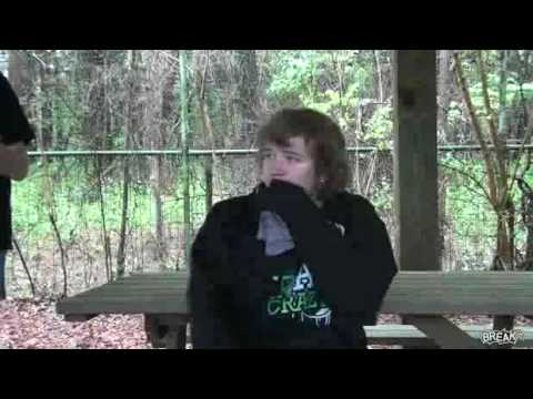 Dude Gets Shot In The Head By 2 Paintball Guns.