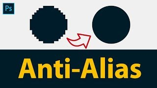 anti Aliasing in Photoshop in Hindi  What is Anti Aliasing  Different Types of Anti-Aliasing