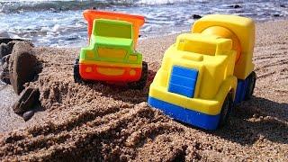 Мультфильм про рабочие машины, которые строят мост на пляже thumbnail