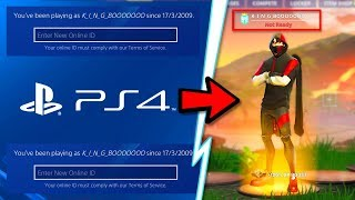 How to Change PS4 NAME in Fortnite For FREE! NEW PSN ID CHANGE TUTORIAL/GUIDE! Change ONLINE ID Free