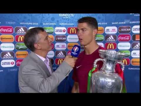 UEFA EURO 2016: Cristiano CR7 Ronaldo afterMatch interview POR-FRA 10.07.2016 [engl]