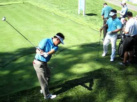 Y.E. Yang, Charlie Wi, Kevin Na Deutsche Bank Championship Practice Round 9/2/09
