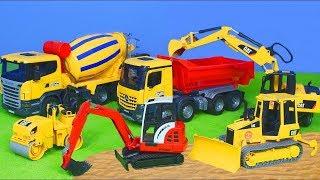 BRUDER - PLAYMOBIL Pelleteuse, camion , truck & grue chantier de construction pour les enfants